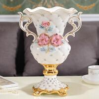欧式落地客厅奢华大花瓶欧式陶瓷创意落地大花瓶装饰品客厅结婚礼物电视柜餐桌摆件