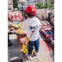 童装男童连帽体恤秋款儿童长袖t恤纯棉秋装帽衫上衣