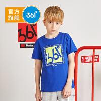 【折后�B券�A估�r:31】361度童�b 男女童休�e短袖��衫 2021夏季新款�和��\��A�IT恤中大童男女童夏�b