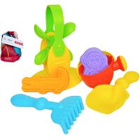 费雪Fisher-Price 6件儿童沙滩玩具套装 宝宝洗澡玩具挖沙工具戏水玩沙早教模型NG-320
