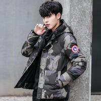 男士棉衣冬季迷彩帅气外套韩版潮流修身短款连帽棉袄学生羽绒