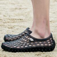 洞洞鞋夏季男士拖鞋外穿凉拖韩版潮流沙滩鞋情侣室外耐穿个性凉鞋夏季百搭鞋
