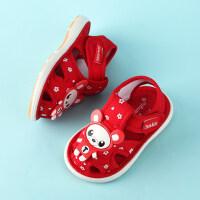 2019年夏季新品婴幼儿宝宝童鞋手工布鞋男女休闲凉鞋0-1-3岁6一12个月防滑透气软底不掉学步鞋