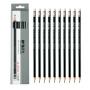 晨光铅笔 30801带橡皮头 学生HB削尖六角杆作业铅笔 12支/盒