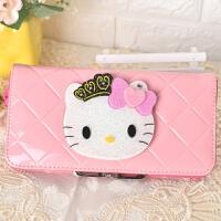 Hello kitty猫镜子卡通零钱包女 新款动漫可爱学生儿童长短款皮夹