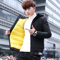 棉衣男冬装加厚连帽短款外套冬季2018新款韩版潮流男士棉袄子