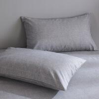 【人气】放心购 清新田园加厚老粗布枕套一对纯棉全棉装枕头套子大号48*74单人 48cm