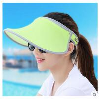 女遮阳帽防晒帽骑车户外帽檐可旋转沙滩太阳帽大沿遮脸帽女