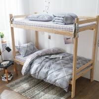 20191108030333475全棉学生三件套 上下铺宿舍被子枕芯五件套 工厂/学校/员工床套件