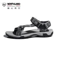 诺诗兰春夏户外男士休闲运动防滑舒适透气时尚潮流沙滩鞋FS075011