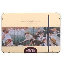 马可(MARCO)3200-48TN 雷诺阿系列 48色黑木油性彩色铅笔/填色笔/彩铅 铁盒装