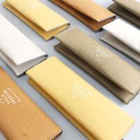 尼家文具 日系简约折叠笔盒可水洗牛皮纸 环保耐用纯色笔袋眼镜袋