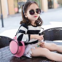 韩版时尚女童公主斜挎包儿童包包帽子造型单肩包礼帽可爱双肩背包出游