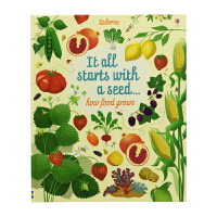 Usborne It all starts with a seed how food grows 食物生长的奥秘 儿童
