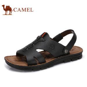 camel骆驼男鞋  夏季新品凉鞋男沙滩鞋 休闲鞋皮凉鞋男