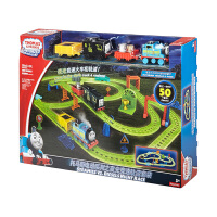 托马斯和朋友电动系列之夜光竞速轨道套装DMT87 玩具小火车轨道