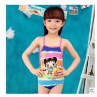 女童 儿童游泳衣公主式连体泳衣 可爱儿童泳装 卡通