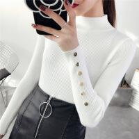 半高领毛衣女套头2018秋冬新款韩版长袖打底衫修身短款加厚针织衫