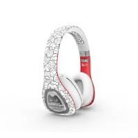 森麦音魔头戴式耳机蓝牙游戏耳机皮质耳罩电脑耳麦重低音 白色