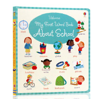 英文原版My First Word Book About School 关于学校的书 幼儿单词早教启蒙绘本Usborn