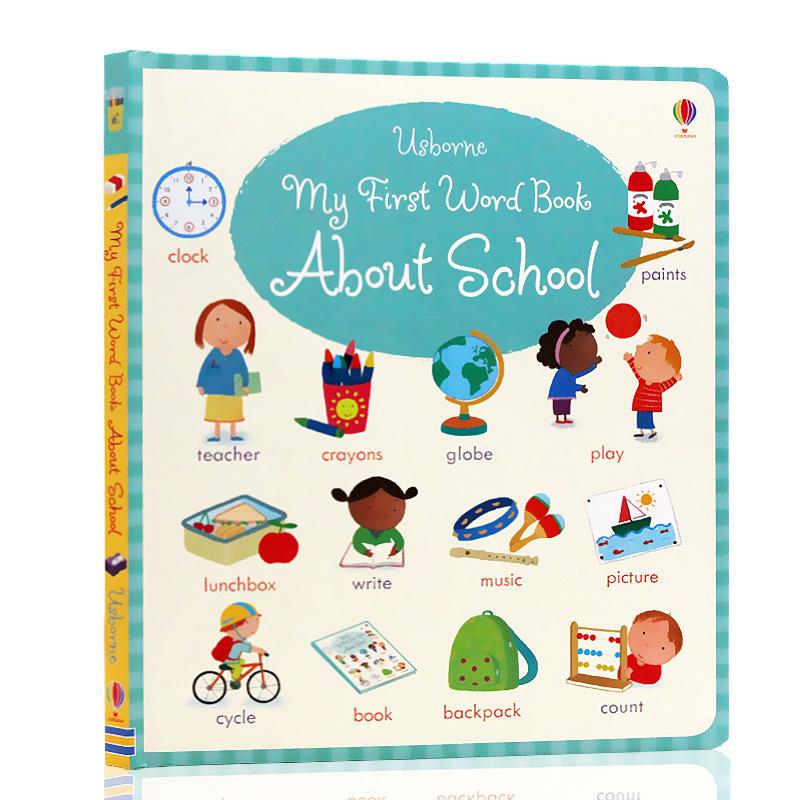 英文原版My First Word Book About School 关于学校的书 幼儿单词早教启蒙绘本Usborne出品 Usborne出品