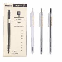 晨光中性笔 H2801按动针管笔 本味系列黑色水笔 办公签字笔 12支/盒
