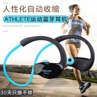 ATHLETE运动型手机蓝牙耳机防水防汗防掉收缩式跑步挂耳式健身头戴脑后式无线耳塞