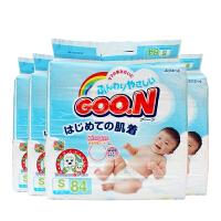 【四包】保税区发货 GOO.N大王 维E系列 婴儿纸尿裤 S84片(4-8kg) 海外购