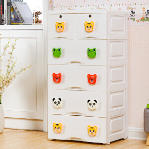 御目  斗柜 儿童50面宽加厚抽屉式收纳柜宝宝衣柜塑料储物整理柜卧室五斗柜创意家具