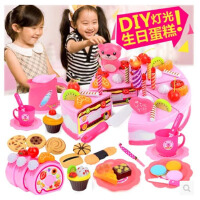 儿童过家家生日蛋糕玩具宝宝仿真厨房 水果切切乐小女孩礼物套装