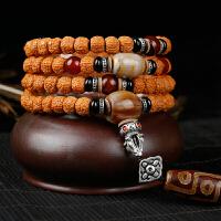 藏式龙鳞纹小金刚菩提子手串108颗男女士佛珠手链项链