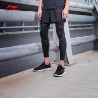 李宁运动短裤男士2017新款跑步系列透气跑步裤反光男装运动裤AKSM289