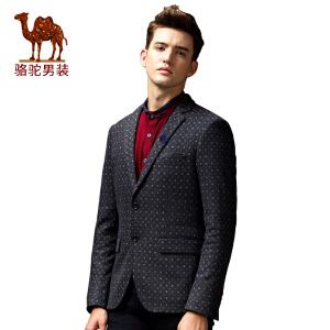 骆驼&熊猫联名系列男装 时尚修身青春流行休闲长袖西装便西男西服