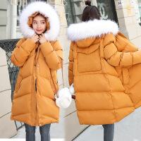 黛熊 韩版孕妇棉衣冬装孕妇装中长款潮妈厚后背口袋孕妇棉袄M-8683
