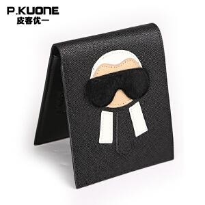 皮客优一个性简约小钱包女韩版学生短款牛皮女士零钱包可爱时尚男生卡包折叠女生钱夹P660656