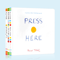 Press Here/Let's Play/Mix it Up3册合集 埃尔维杜莱 Herve Tullet 儿童艺术启