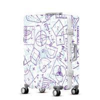 2018新款时尚潮流几何图案女士拉杆箱万向轮旅行箱密码登机箱TY0