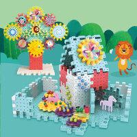 【百变齿轮积木】婴幼儿童益智启蒙转动齿轮积木拼插儿童玩具幼儿园宝宝拼插玩具亲子互动玩具