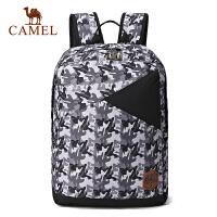 camel骆驼户外双肩背包 18L男女通用百搭迷彩运动休闲包