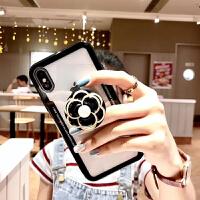 网红小香风苹果x手机壳xs手机壳7p挂绳iPhone11Pro max手机套女款8plus山茶花支架