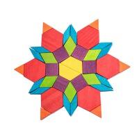 木质七巧板智力立体拼图拼插积木儿童宝宝早教益智玩具3-6-8-10岁