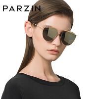 帕森时尚太阳镜女金属大框个性彩膜双梁潮墨镜开车蛤蟆镜9764