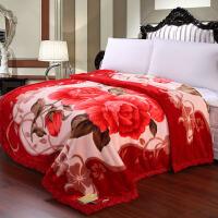 凤凰绒毯 婚庆 毛毯子 拉舍尔毛毯加厚双层