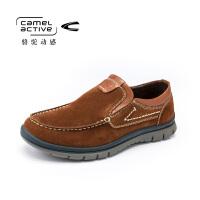 Camel Active/骆驼动感 秋冬款男士头层牛皮套脚休闲鞋流行潮男鞋