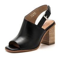 【超品清仓】D:Fuse/迪芙斯春夏牛皮鱼嘴舒适粗高跟穆勒鞋凉鞋女鞋DF71113003