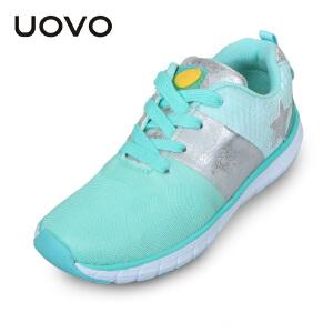 UOVO女童运动鞋秋季新款女童休闲鞋透气中大童童鞋潮款 卡帕多西亚