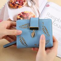 女生钱包长款女式钱包 韩版创意镂空树叶手拿包零钱包