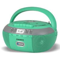 熊猫/PANDA CD-790蓝牙无线音响收录音机胎教CD机磁带复读机插卡U盘TF卡转录播放机 绿