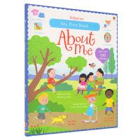 【首页抢券300-100】Usborne My First Book About Me 关于自己的第一本贴纸书3~6岁