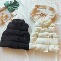 儿童立领拉链口袋背心 童装冬季男女童保暖马甲